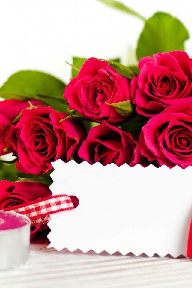 Класс, розы красные для открытки