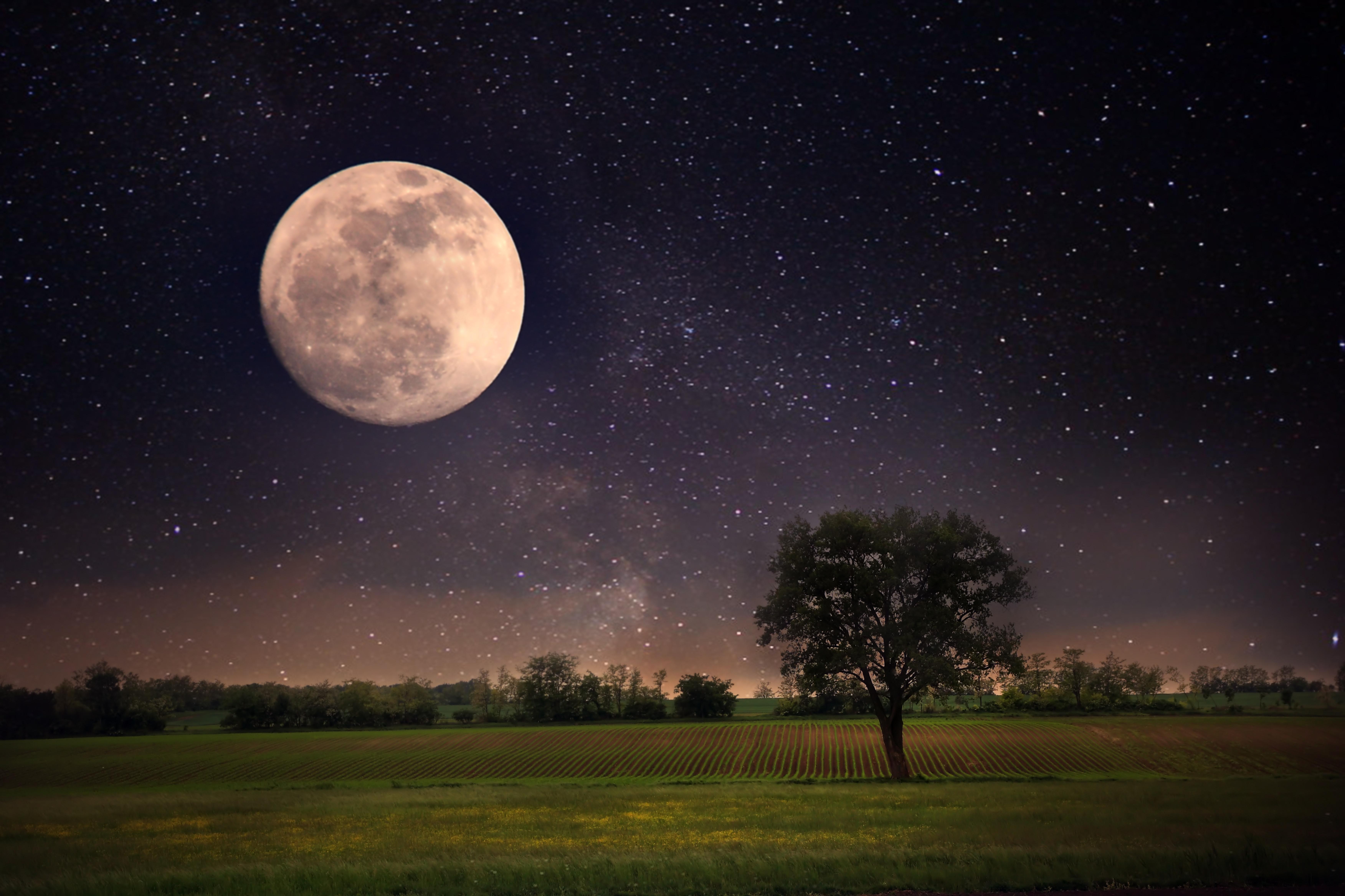 moon and stars - HD1920×1280