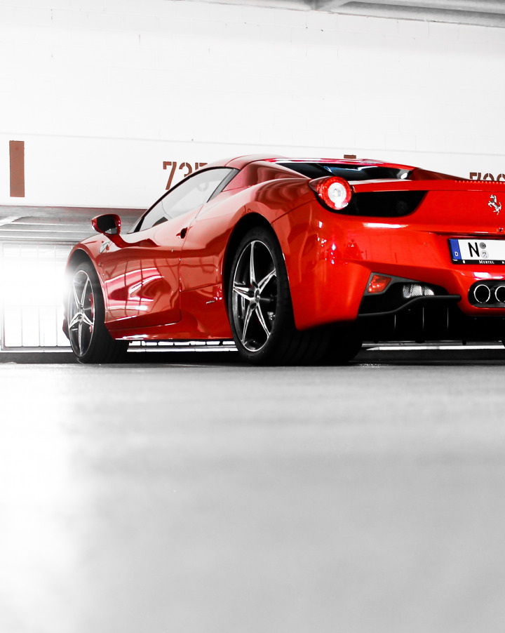 childrens black white red ferrari 458 italia style