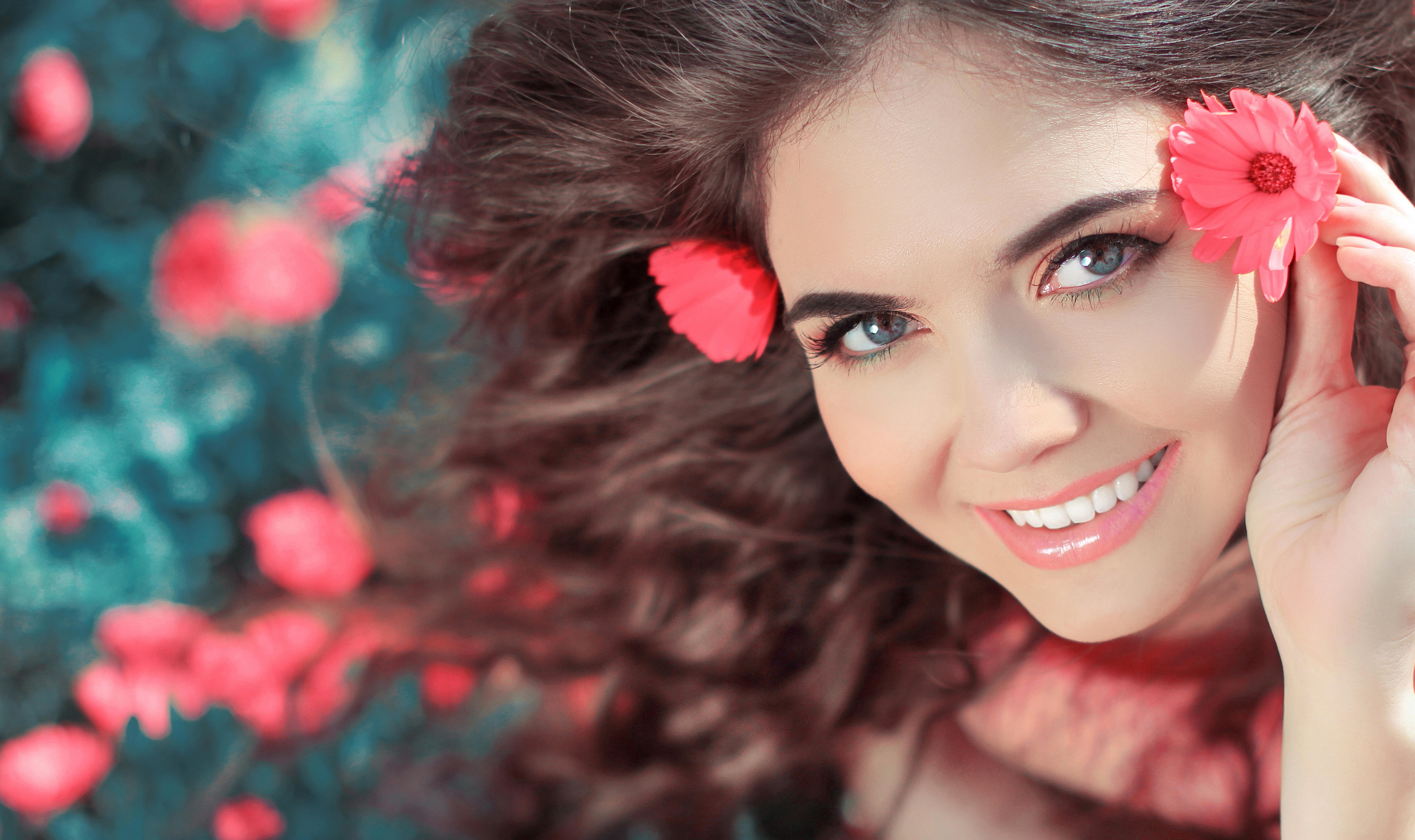 разработке фото цветы и улыбка сделать