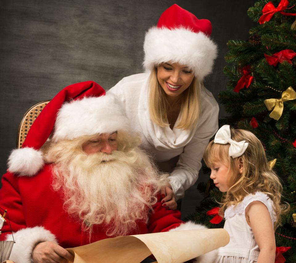 Дед мороз с девушками картинки