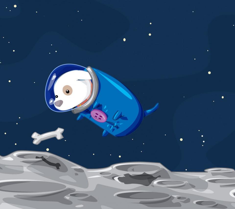 Открытка, картинка смешная космос для детей