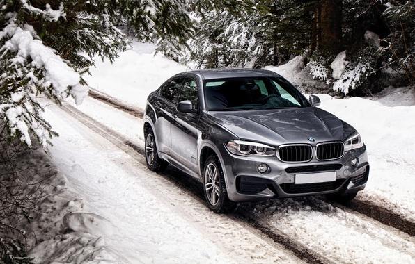 Картинка зима, снег, бмв, BMW, xDrive, UK-spec, F16, 2015, Sport Package