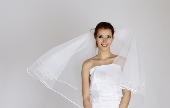 Картинка праздник, платье, фата, Невеста, свадьба