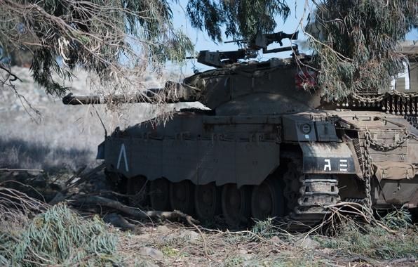 Картинка укрытие, танк, боевой, основной, Merkava, Израиля, «Меркава»