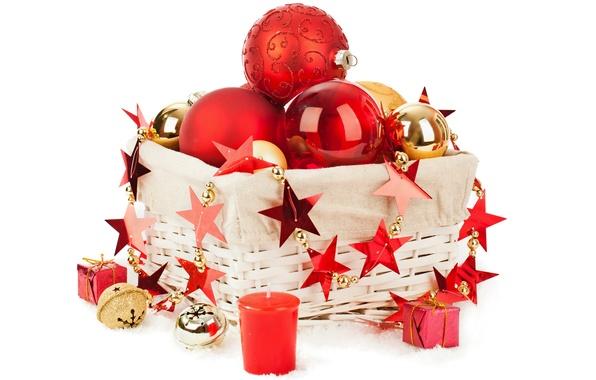 Картинка украшения, шары, Рождество, Новый год, Christmas, balls, box, New Year, decoration, Merry