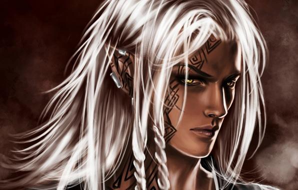 Картинка эльф, парень, белые волосы