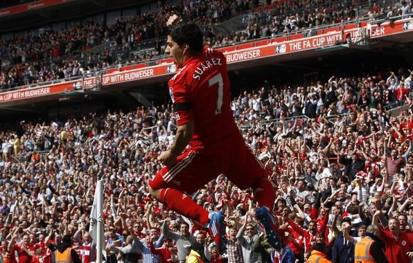 Картинка футбол, победа, гол, england, ливерпуль, football, soccer, liverpool, суарез, fans, suarez 2012