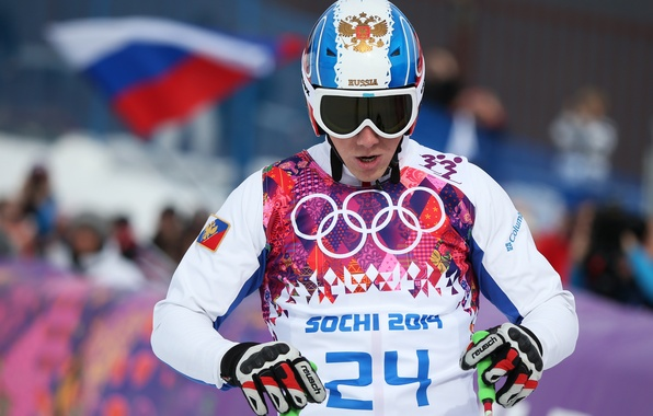 Картинка флаг, очки, шлем, Россия, герб, RUSSIA, Сочи 2014, XXII Зимние Олимпийские Игры, Sochi 2014, sochi …