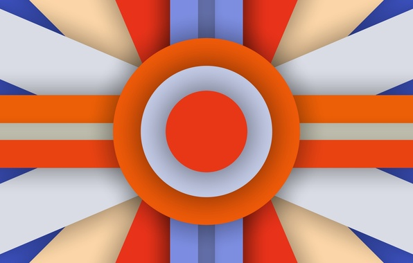 Картинка Orange, Android, Blue, Design, 5.0, Line, Colors, Lollipop, Stripes, Abstraction, Circle, Material