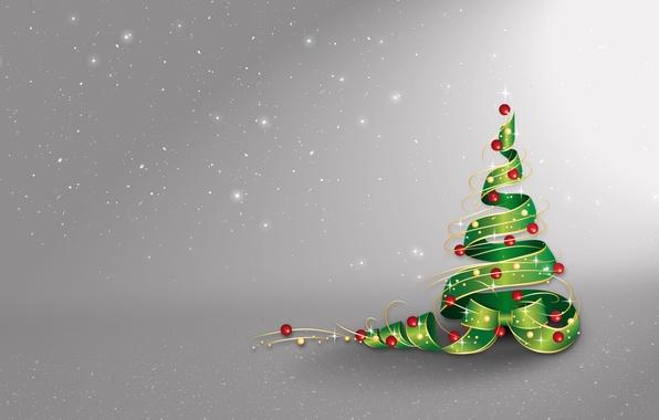 Картинка звезды, шарики, снег, украшения, праздник, Рождество, Новый год, Елка, Christmas, stars, New Year