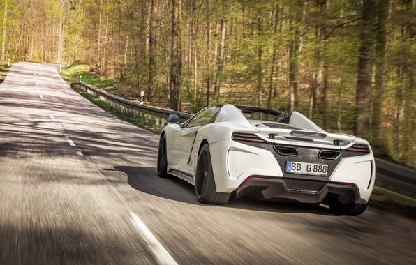 Картинка car, McLaren, white, road, Gemballa, trees, MP4-12C, speed, GT Spider