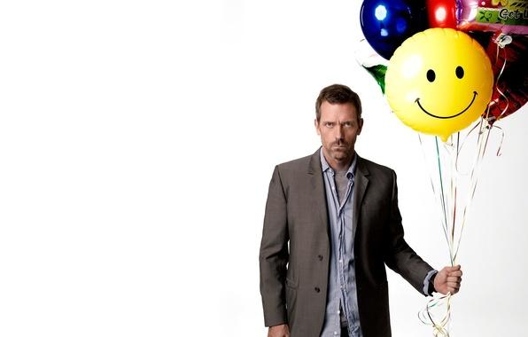 Картинка белый, шарики, House M.D., Хью Лори, Hugh Laurie