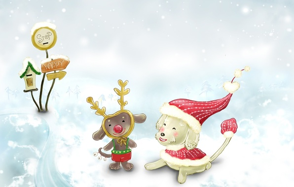 Картинка зима, снег, детство, новый год, сказка