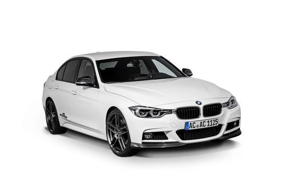 Фото обои бмв, BMW, белый фон, седан, F30, AC Schnitzer, 3-Series