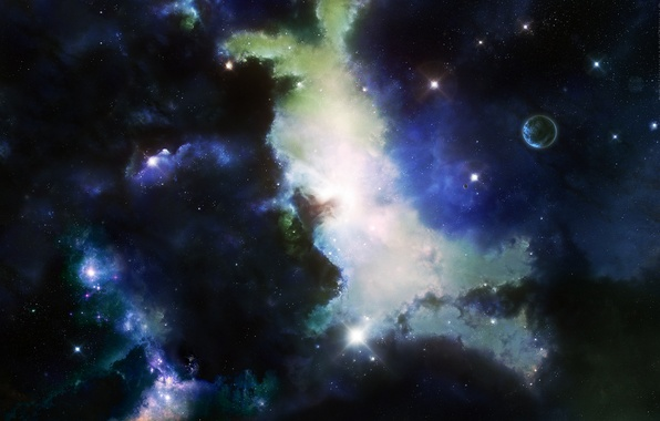 Картинка space, Origins, stars, digital illustration, planets, nebulae