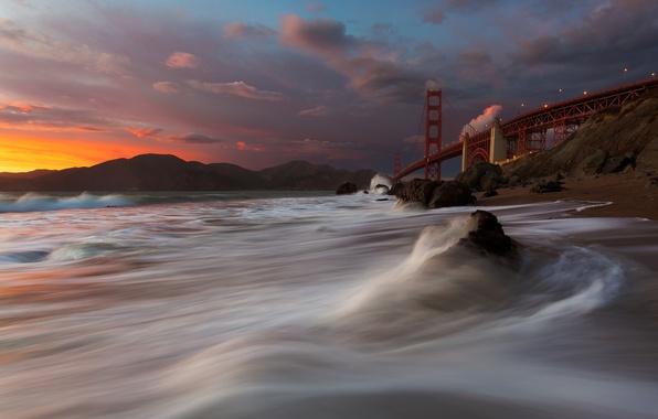 Картинка Golden Gate Bridge, San Francisco, Marshall Beach