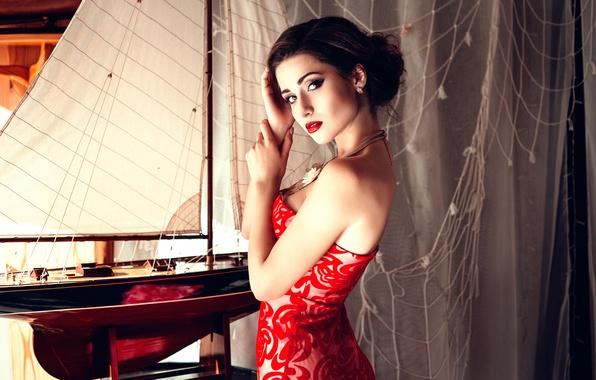 Картинка макияж, декольте, Helen Molchanova