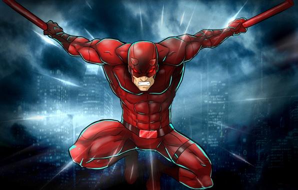 Картинка костюм, супергерой, Marvel Comics, Сорвиголова, Matt Murdock