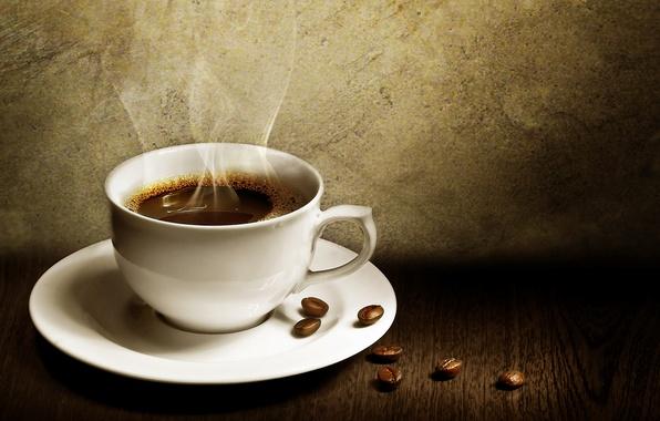 Картинка кофе, чашка, зёрна