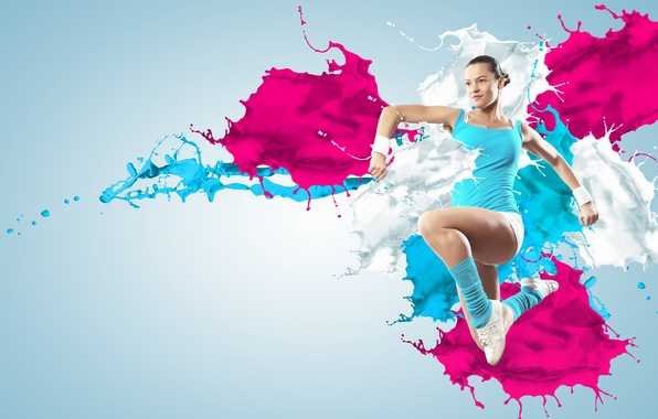 Картинка abstract, girl, sexy, splash, women, fitness, gym, aerobic