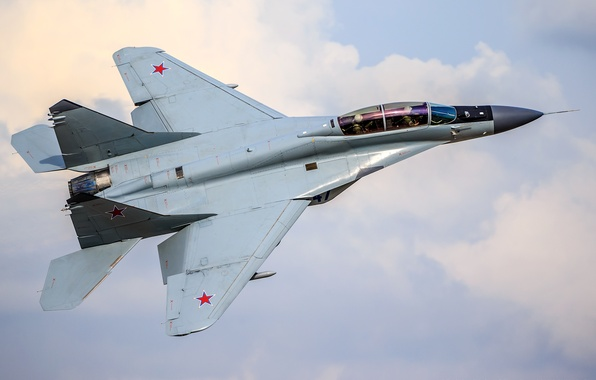Картинка истребитель, самолёт, российский, многоцелевой, Fulcrum-F, ВВС России, МиГ-35, поколения «4++»