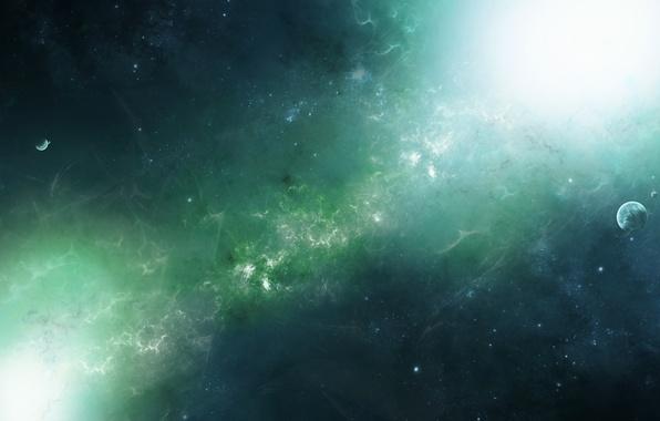 Картинка звезды, свет, планеты, Космос, space, stars, туманности, planets