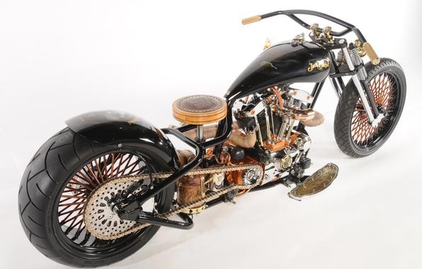 Картинка дизайн, стиль, фон, тюнинг, мощь, мотоцикл, форма, аэрография, байк, колёса