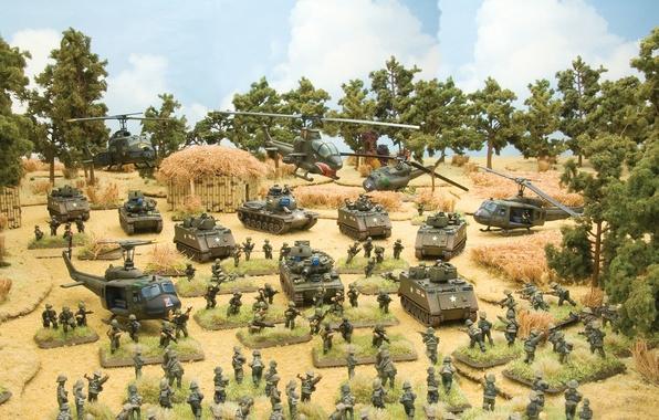 Картинка игра, арт, the, солдатики, Flames of War, miniatures, Tropic Lightning, vietnam war, game., настольная, серии, …