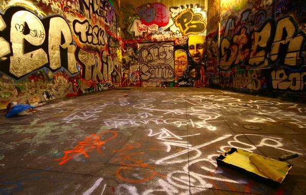 Картинка стены, краска, Граффити
