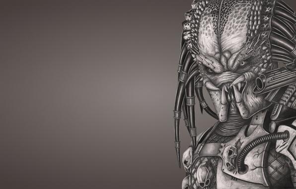 Картинка оружие, монстр, хищник, инопланетянин, пришелец, predator