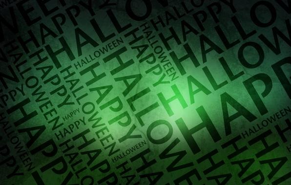 Картинка буквы, праздник, хэллоуин, happy, halloween, слова, зеленый фон, день всех святых, 31 октября