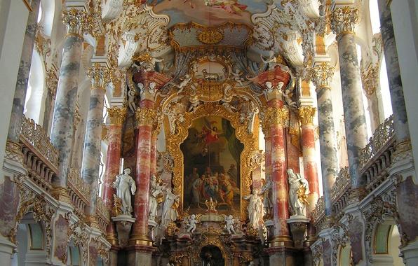 Картинка церковь, собор, храм, архитектура, религия