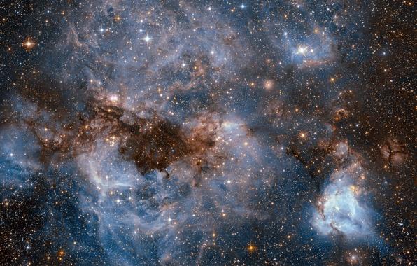 Картинка космос, звезды, туманность, hubble