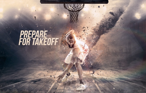 Картинка Мяч, Спорт, Баскетбол, Кольцо, Houston, NBA, Rockets, Хьюстон, James Harden, Джеймс Харден, Рокетс