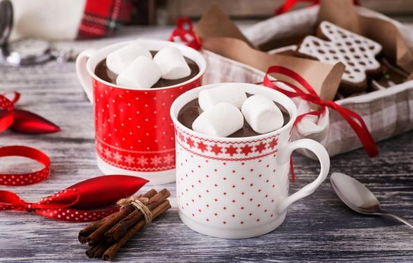 Картинка кофе, еда, печенье, чашка, cup, какао, coffee, cocoa, горячий шоколад, biscuits, hot chocolate