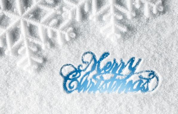 Картинка зима, снег, снежинки, Новый Год, Рождество, Christmas, winter, snow, Xmas, decoration, snowflake, Merry