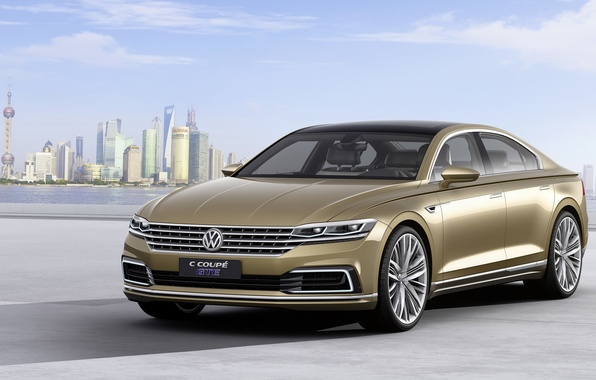 Картинка Volkswagen, Coupe, фольксваген, GTE, 2015