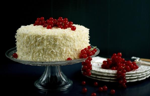 Картинка еда, торт, пирожное, cake, десерт, food, сладкое, dessert, красная смородина, red currant