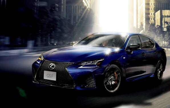Картинка синий, Lexus, седан, лексус, GS F