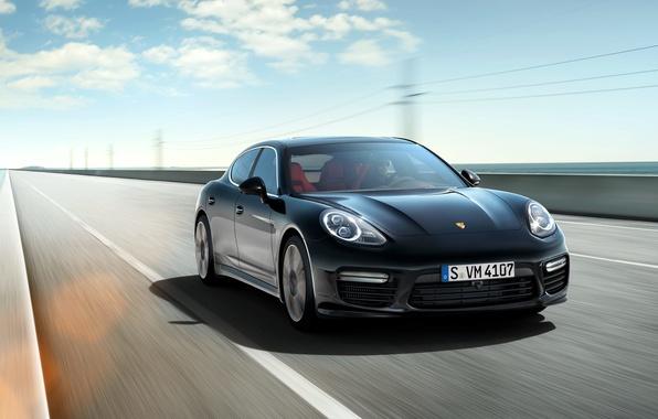 Картинка Porsche, Panamera, порше, панамера, Turbo, 2014