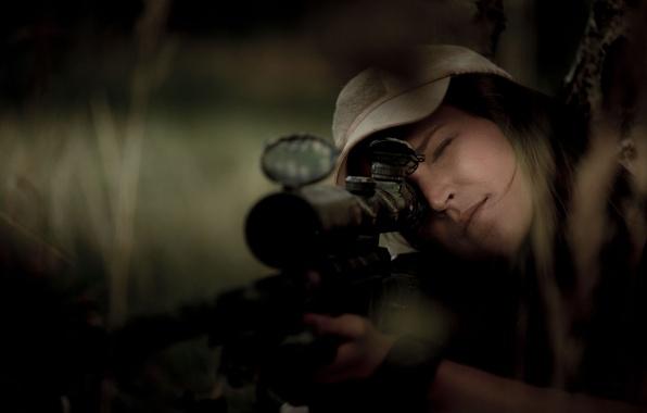 Картинка шляпа, снайпер, прицел, винтовка, Alissia Loop
