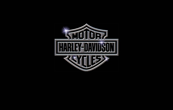 Картинка минимализм, логотип, мотоцикл, logo, motorcycle, бренд, Harley-Davidson, brand, wallpaper., мотоцикла, Харли-Дэвидсон
