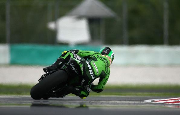 Картинка гонка, Спорт, Поворот, Мотоцикл, Гонщик, Мото, Kawasaki, MotoGP
