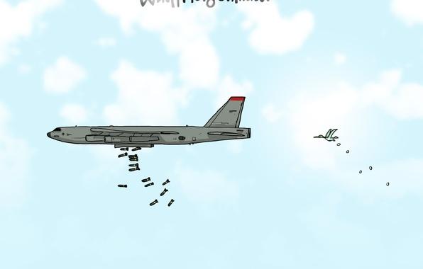 Картинка самолет, юмор, Wulffmorgenthaler, карикатура, бомбардировщик