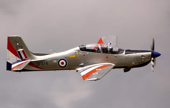 Картинка самолет, пилот, полёт, учебно, тренировочный, Short Tucano T1
