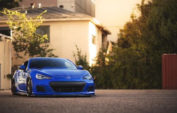 Картинка купе, Subaru, спорткар, blue, front, субару, brz, брз