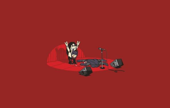 Картинка металл, гитара, бэтмен, колонки, концерт, летучая мышь, рок, ози озборн, ozzy