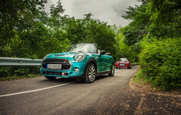 Картинка Mini, Cooper, мини, кабриолет, купер, Cabrio, F57