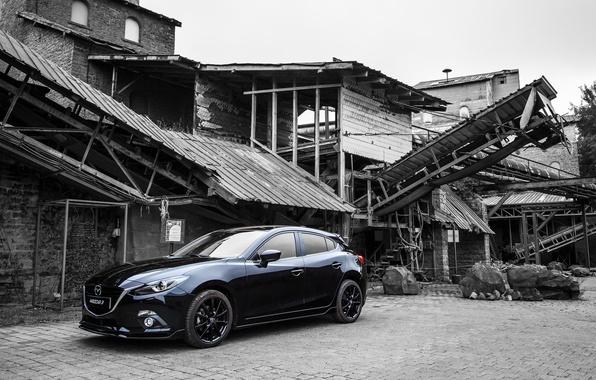 Картинка Mazda 3, Black, мазда, Sedan, 2015